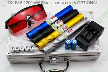 SPECIAL OFFER OXLasers OX-BL8 447nm burning 5 in 1 2000mW/2W Blue laser pointer light cigars