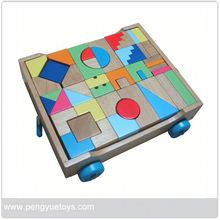 model of geometric shapes wooden children learning toy block