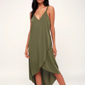 Small Quantity Latest Design Woman Casual High- Low Dress