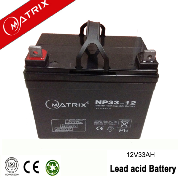 General used 33ah 12v power scooter battery for European market