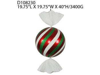"40""H GIANT CANDY PLASTIC ORNAMENT"