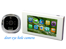 "4.7"" video Record Night Vision Anti-damage door viewer peephole door bell ring with camera"