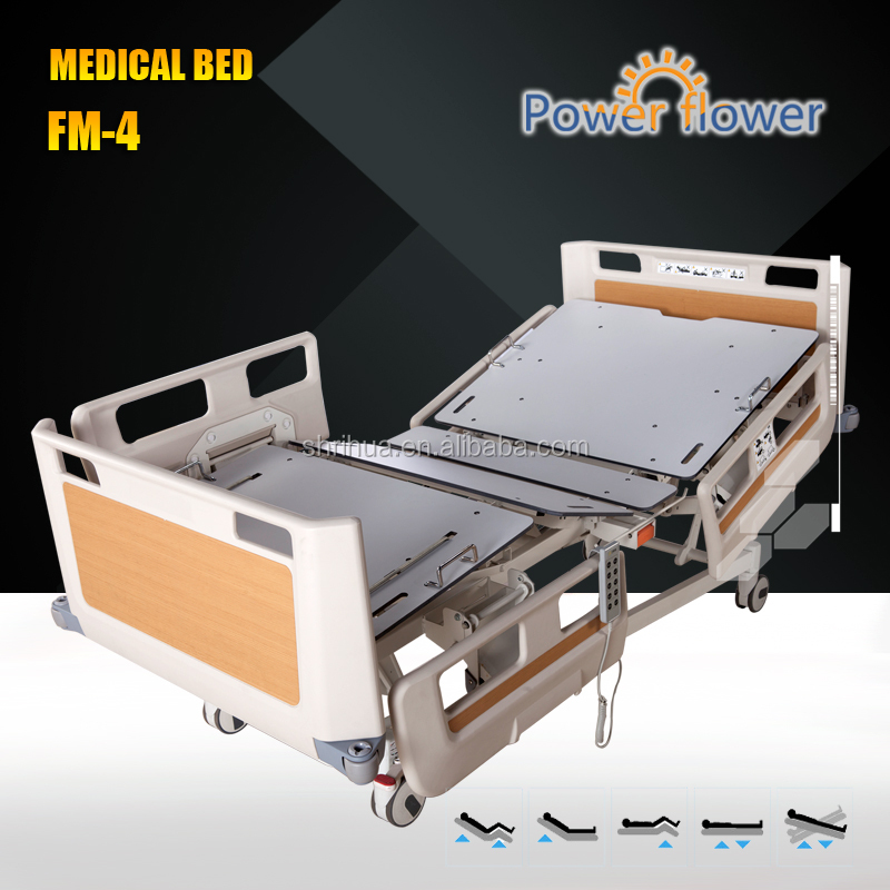 SO 13485,FDA, CE approved Five Functions Luxurious electric home care bed Hospital bed foldable ICU bed