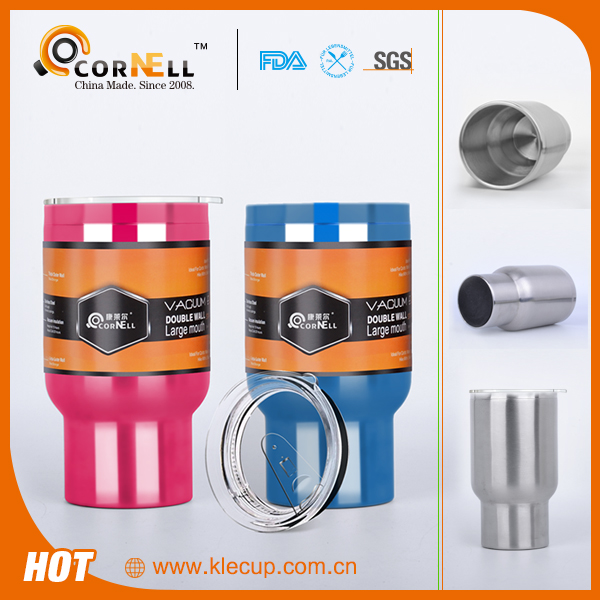 human appearance design OEM logo printing travel mug novelties new design coffee mug with transparent lid