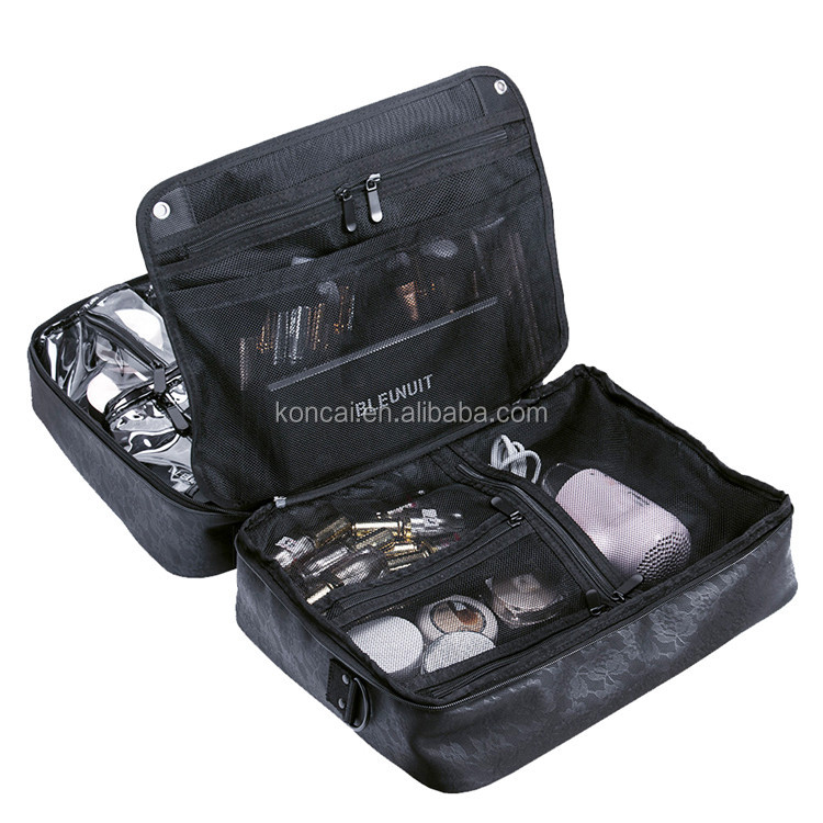 Professional Carrying PU Women Multi-layered Makeup Artist Bag For Ladies