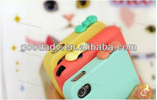 Colorful lovely bowknot resin anti dust plug/mobile ear cap
