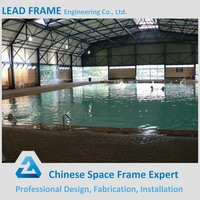 Wind resistant canopy steel building for swimming pool