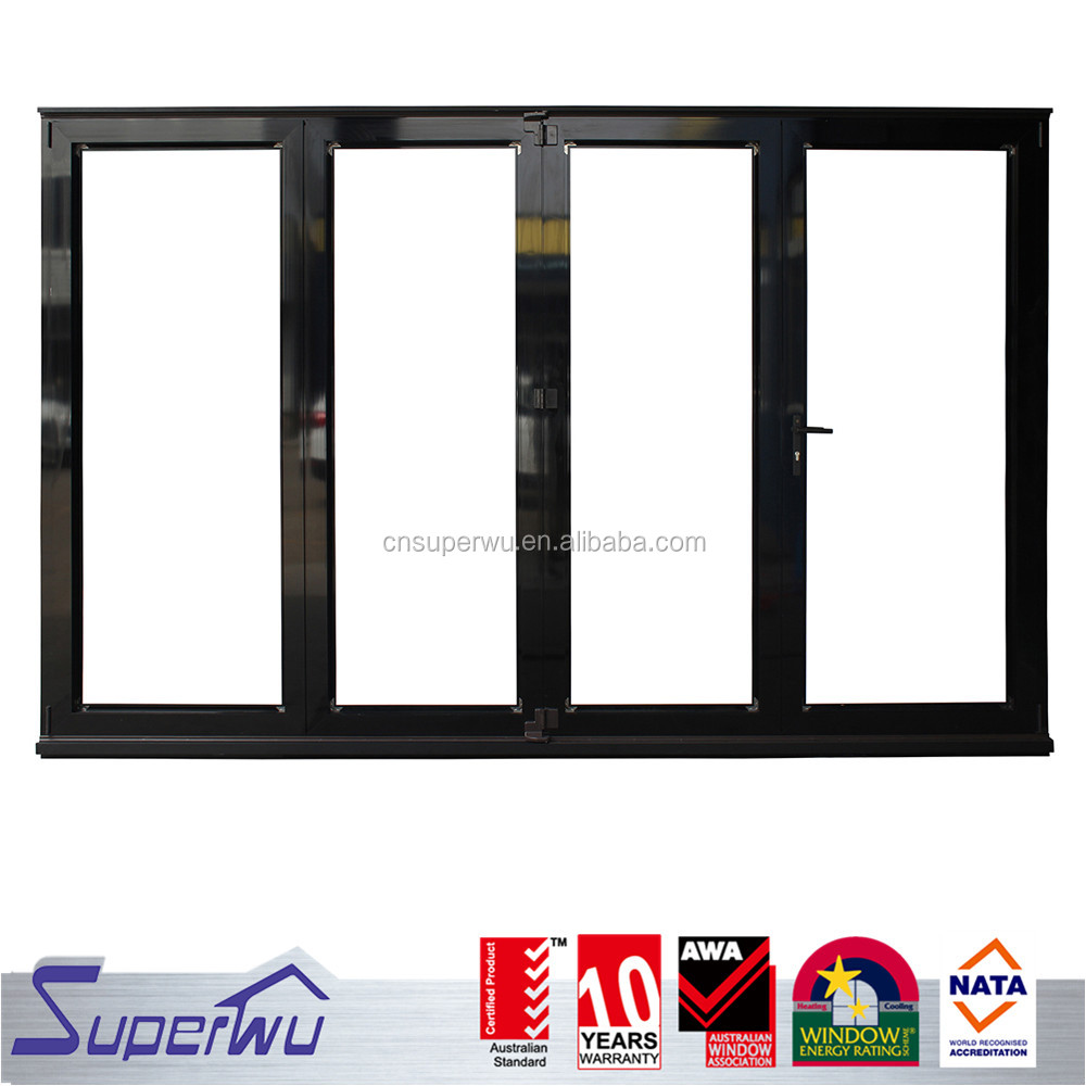 High quality anodized aluminum bi-folding door with factory price