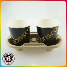Disposable Paper Pulp 2 Up Cup Tray