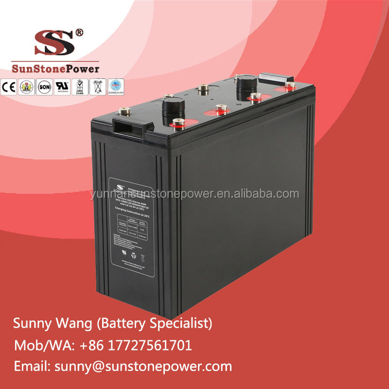 Maintenance free dry battery 2v 1000ah AGM battery for ups usage