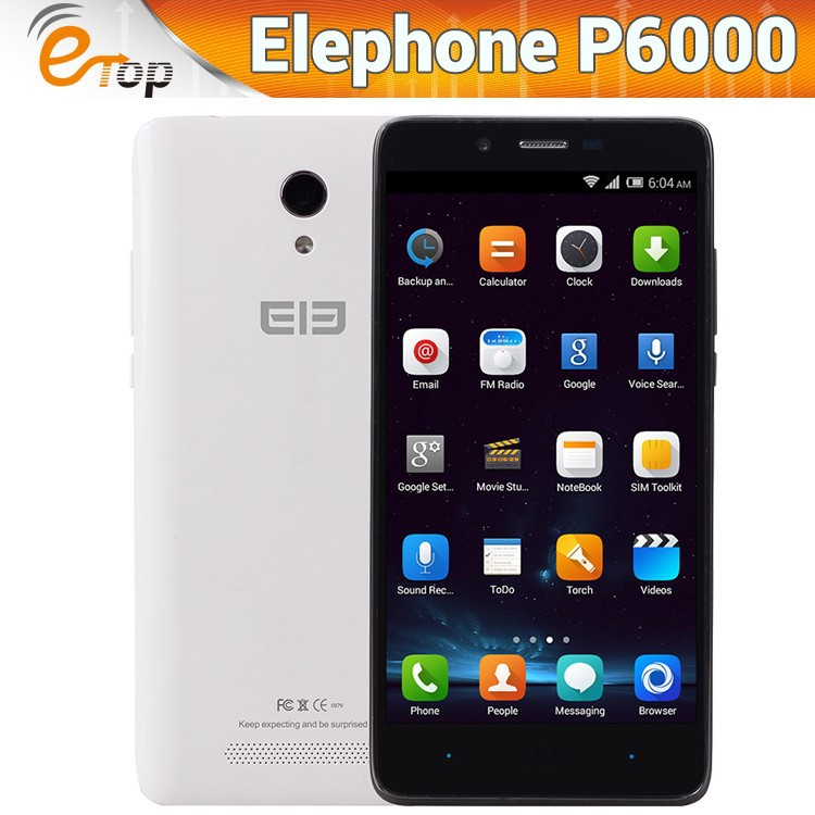 Android 4.4 ELEPHONE P6000 Smartphone 5.0 inch 4G life16G smart mobile phone