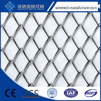 Cascade Coil Drapery's flexible round weave wire fabrics/Architectural Metal Drapery