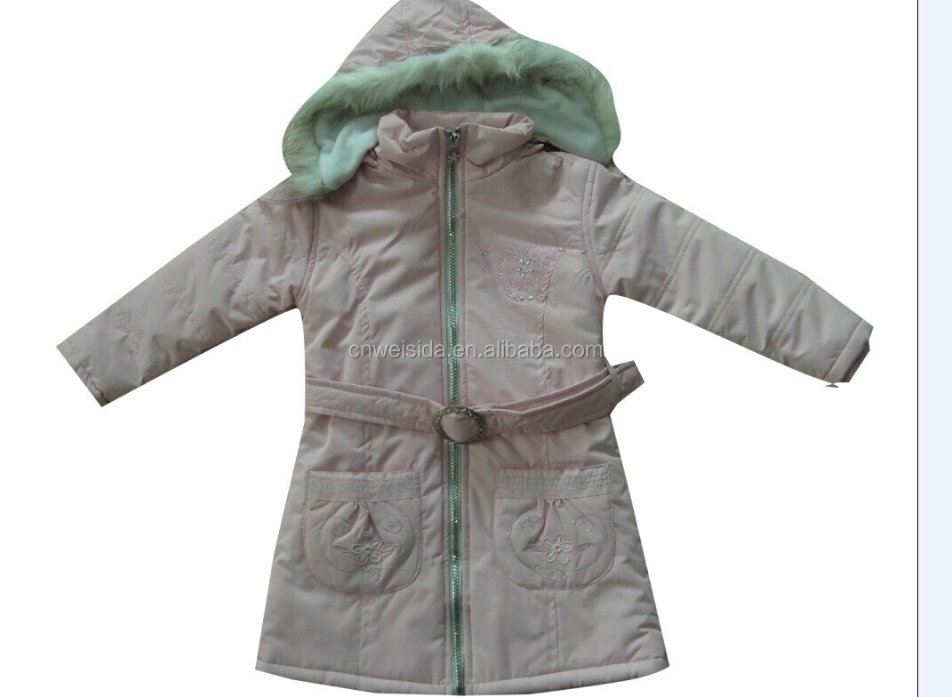 2014 girl's fashion jacket with hoody