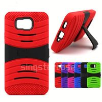 Wholesale Phone Cover Heavy Duty Kickstand Defender Combo Case for ZTE Warp Sync N9515