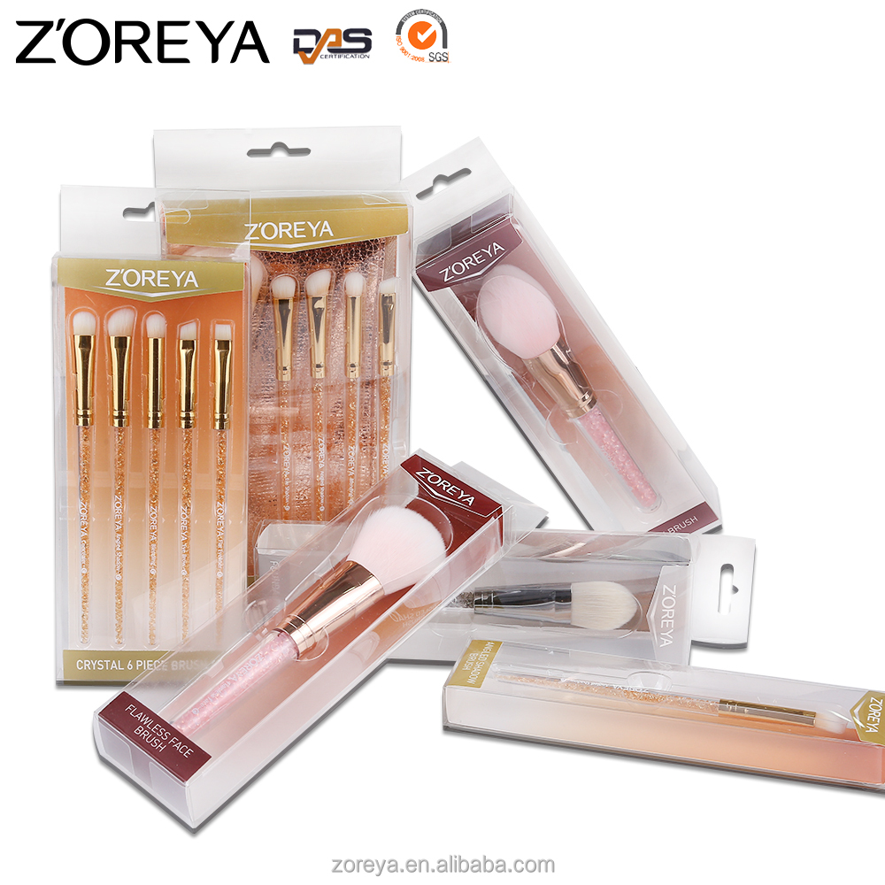 2016 Private Lable Make Up Brush Cosmetics New Fashion Girls Tops Diamond Inside Handle Rose Golden Makeup Brush