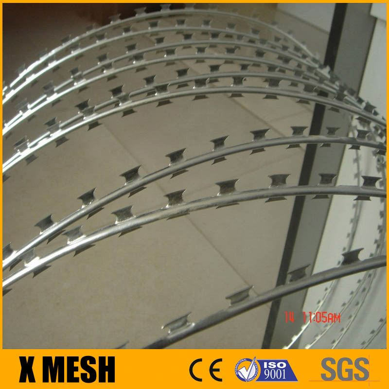 RAZOR WIRE 10M/65M GALVANISED BARBED STEEL SECURITY FENCE FARM COILED CONCERTINA