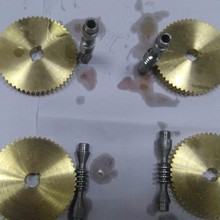 MMS small mechanical parts small brass worm gears/spur gears worm gear wheel