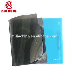 Translucent PP hard plastic cover report file folder with sliding bar