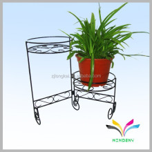 Made in china round 2 holders indoor outdoor metal shelf for flower pot