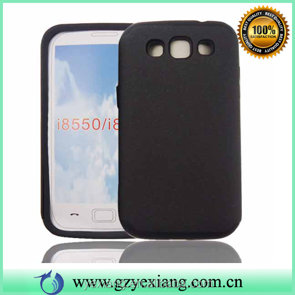 Custom Back PC Silicone Hard Case For Galaxy Vin Samsung I8552 Case
