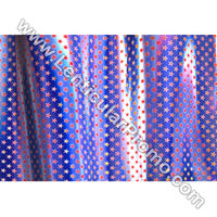 Custom Fashion Lenticular 3D Fabric Sheets Color Changing Red Star Blue Apparel Material
