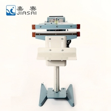 Heat sealer vertical plastic food containers foot sealing machine price