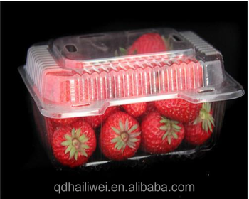 Environmental Wholesale Clear customPVC PET folding packaging plastic blister box forfruits with lock