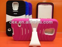 For Samsung Galaxy S5 i9600 High Quality Hybrid Armor Defender Dual Soft Silicone and PC Hard Stand Case