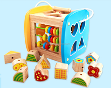 Children Teaching Multi - functional Shape Matching Arithmetic Box Cognitive Wooden Toys