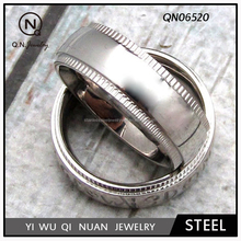 Stainless Steel Stamping - Blank Comfort Fit Decorated Edge Ring