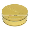 Gold Printed Embossing Round Tin Box