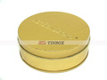 Gold Printed Embossing Round Tin box for Gift Candy Packaging