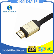 Gold plated nylon braided Mhl Micro Usb To Hdmi 3D for HDTV , Laptop , home theater system Cable