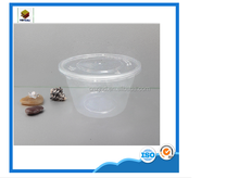 18oz Clear Round Plastic Food Container Used by Takeaway