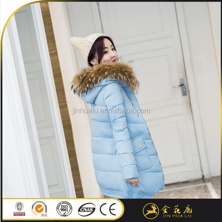 high quality China manufacturer Hollow cotton 66 waterproof down jacket women