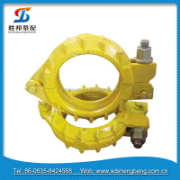 concrete pump pipe clamp rubber lined pipe clamp
