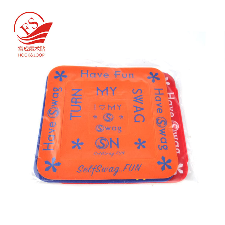 Free sample different shape adhesive soft loop patch