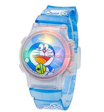 Plastic Wrist Watch 3D Liquid Bubble Digital Child Watch With Flashing Lights