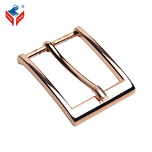 Square Metal Single Prong Rose Gold 35mm Pin Belt Buckle For Women