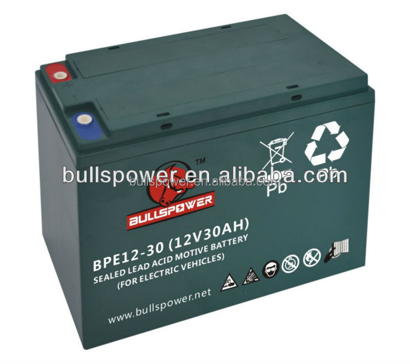 maintenance free 6-DZM-30 12v30ah motive power vrla battery BPE12-30 for electric bikes tricycles motorcycles scooters batteries