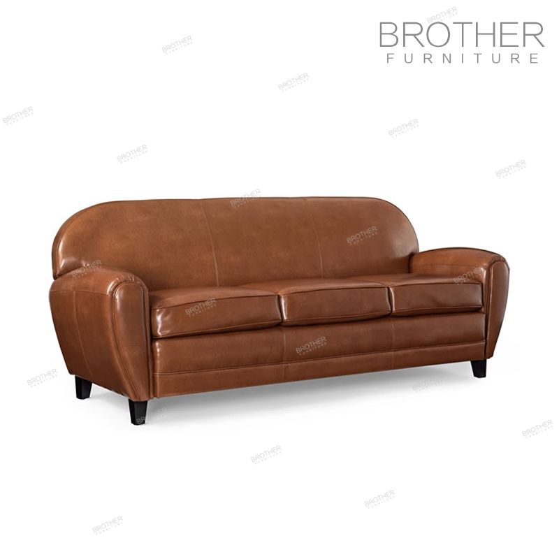 Modern living room office sofa furniture 3 seater leather sofa