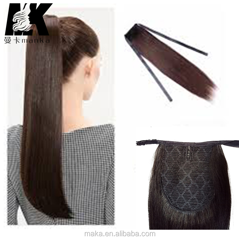 Brazilian Remy Human Hair Ponytail Extensions Real Human Hair