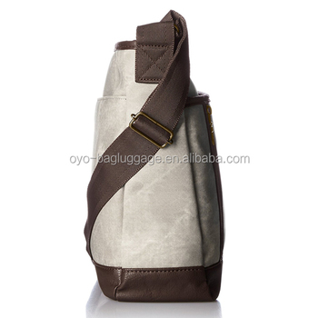 Grey PU shoulder bag with casual style