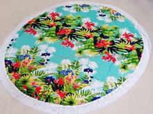 Alibaba China Supplier Microfiber Floral Printing Round Beach Towel