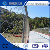 anping iso 304/316 stainless steel wire rope flexible mesh net for hot sale