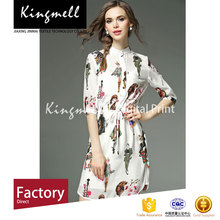 Hot digital printed silk chiffon fabric cheap price fabric