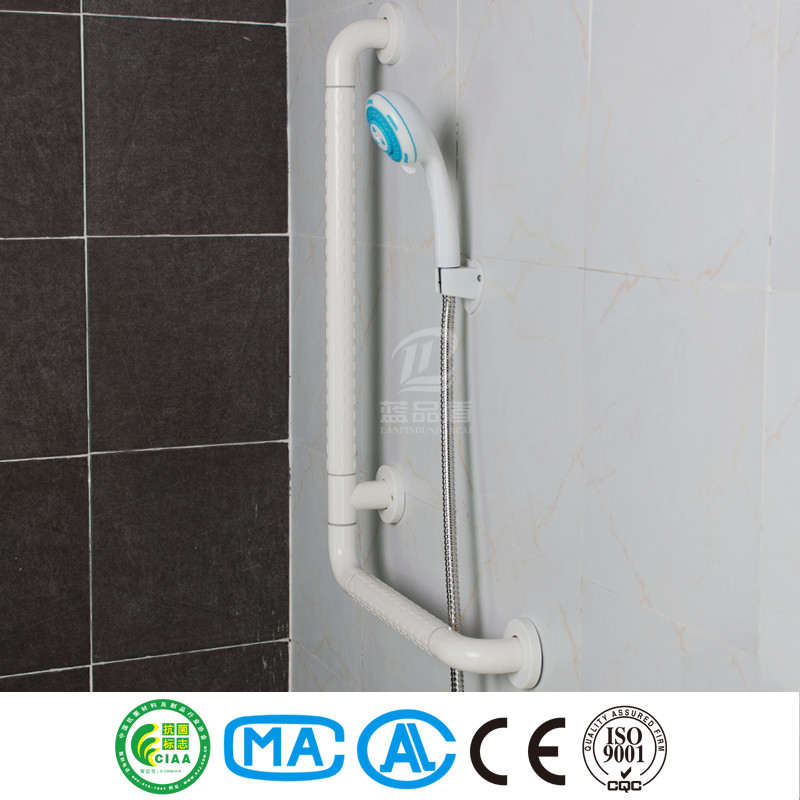 L shaped antibacterial and safety decorative grab bars for bathroom