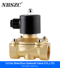 2W series normally closed electronic water solenoid valve 220v 110v 24v 12v