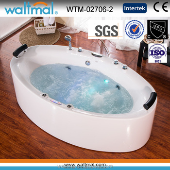 Charming Whirlpool massage bathtub with bubble function, colorful hot tub