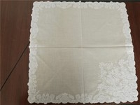 White modern designe home and hotel decoration lace embroidery table cloth